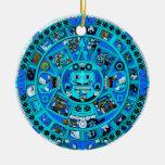 ¡Símbolo azteca maya antiguo - extremo del mundo?! Ornamentos De Navidad