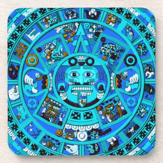 ¡Símbolo azteca maya antiguo - extremo del mundo?! Portavasos