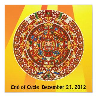 """Símbolo azteca maya antiguo invitación 5.25"""" x 5.25"""""""