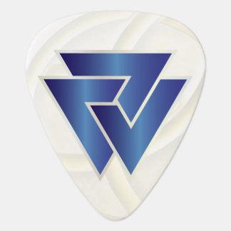 Símbolo azul 3 de Valknut de los nórdises - imagen Plumilla De Guitarra