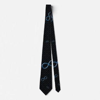 Símbolo azul del infinito - lazo del friki corbatas
