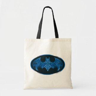 Símbolo azul del palo del humo bolsa tela barata