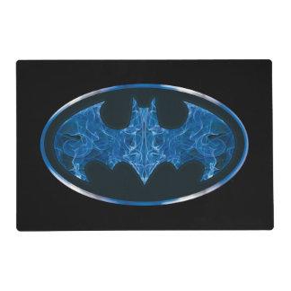 Símbolo azul del palo del humo salvamanteles