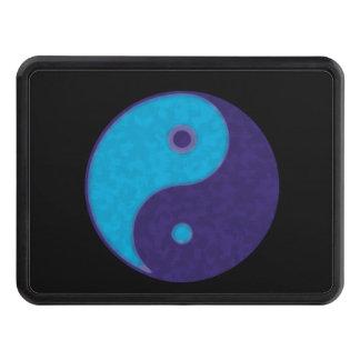 símbolo azul del zen de yin-Yang tao Tapas De Tráiler