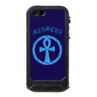 Símbolo azul Egipto antiguo Wicca de Ankh Carcasa De Iphone 5 Incipio Atlas Id
