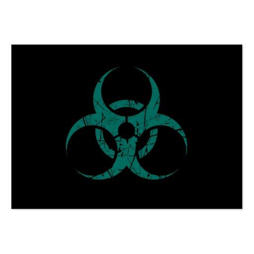 Símbolo azul rasguñado del Biohazard del trullo en Tarjeta Personal