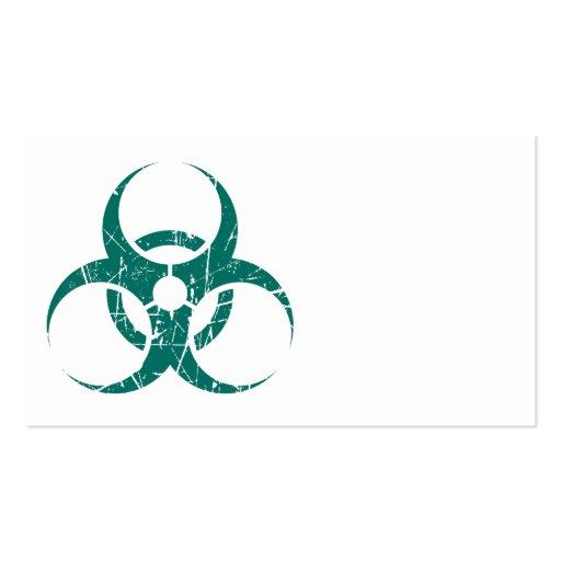 Símbolo azul rasguñado del Biohazard del trullo Tarjeta Personal