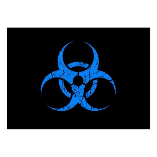 Símbolo azul rasguñado del Biohazard en negro Plantilla De Tarjeta De Negocio