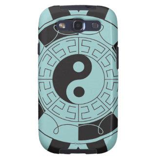 Símbolo azul y negro de Yin Yang Galaxy SIII Cárcasas