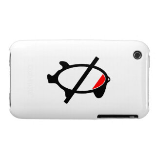 símbolo bajo de la fuente del tocino Case-Mate iPhone 3 fundas