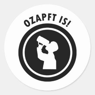 símbolo bávaro de Oktoberfest de los ozapftis Pegatina Redonda