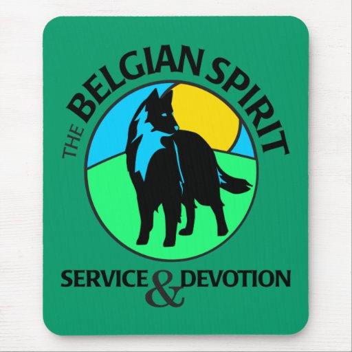 Símbolo belga del alcohol alfombrillas de ratón