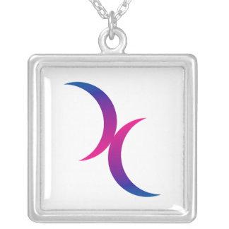 Símbolo bisexual del orgullo de la luna creciente  colgantes