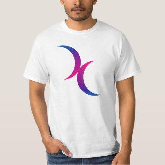 Símbolo bisexual del orgullo de la luna creciente playera