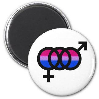Símbolo bisexual imán redondo 5 cm