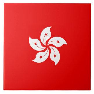 Símbolo blanco de la orquídea de la bandera de azulejos