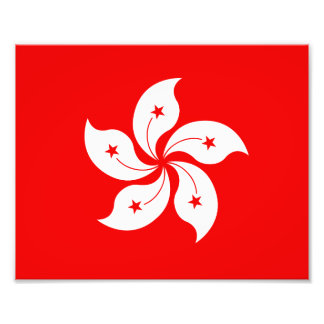 Símbolo blanco de la orquídea de la bandera de impresiones fotográficas