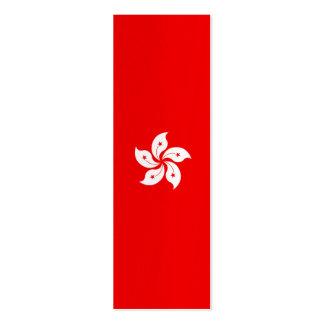 Símbolo blanco de la orquídea de la bandera de tarjeta de negocio