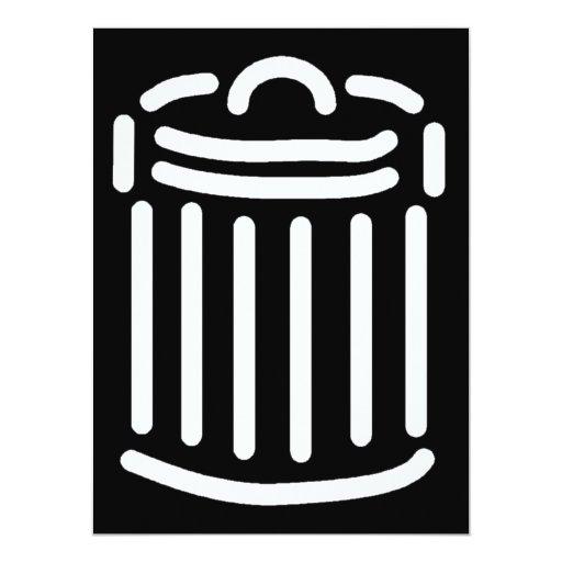 Símbolo blanco del bote de basura anuncios