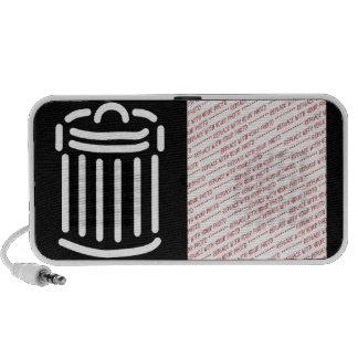 Símbolo blanco del bote de basura (para los fondos iPhone altavoz
