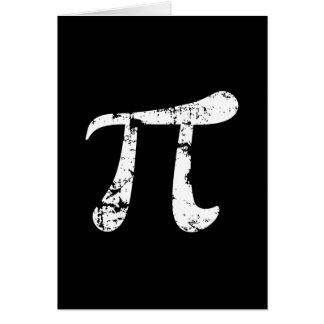 Símbolo blanco del Grunge pi Tarjeta De Felicitación