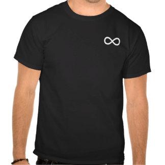Símbolo blanco del infinito camisetas