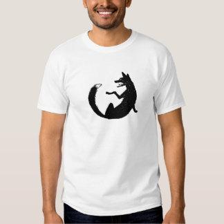 Símbolo blanco y negro del emblema del Fox Polera