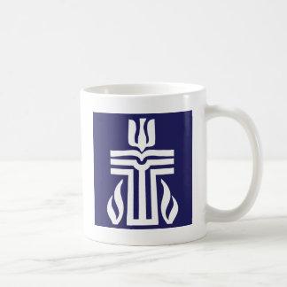 símbolo-bluewhite taza básica blanca