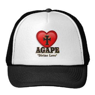 Símbolo boquiabierto del corazón del gorra del