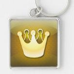 Símbolo brillante de la corona del llavero