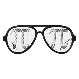 Símbolo brillante de la plata pi lentes de sol