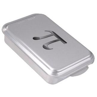 Símbolo brillante de la plata pi molde para pasteles