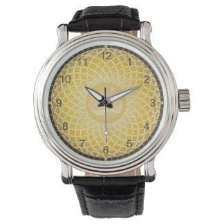 Símbolo brillante de OM del amarillo Reloj De Mano