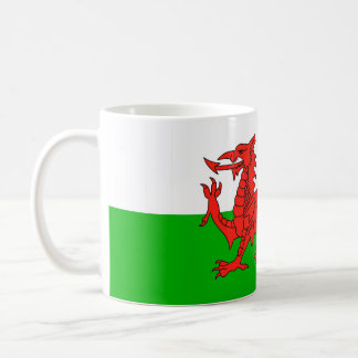símbolo británico galés de la nación de la bandera taza clásica