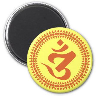 Símbolo budista de OM de la escritura de Siddham Imán Para Frigorífico