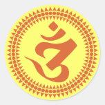 Símbolo budista de OM de la escritura de Siddham Etiquetas
