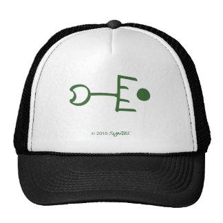 Símbolo celoso verde de SymTell Gorro De Camionero