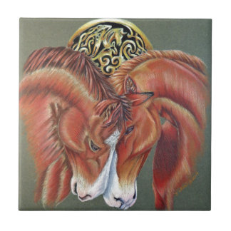 Símbolo céltico del zodiaco del caballo tejas  ceramicas