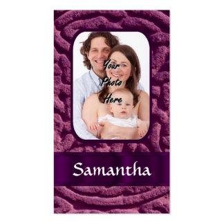 Símbolo céltico púrpura del knotwork tarjetas personales