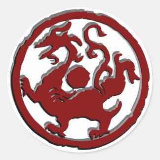 Símbolo chino antiguo: Dragón Pegatina Redonda
