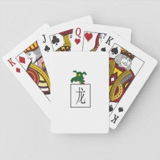 """Símbolo chino de la astrología del """"dragón"""" baraja de póquer"""
