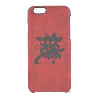 Símbolo chino de la caligrafía para la oportunidad funda clearly™ deflector para iPhone 6 de uncommon