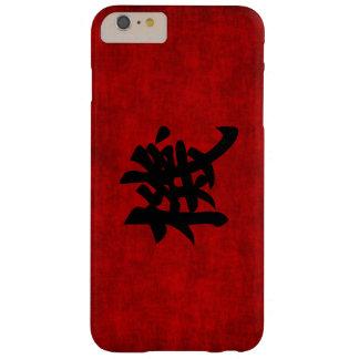 Símbolo chino de la caligrafía para la oportunidad funda de iPhone 6 plus barely there