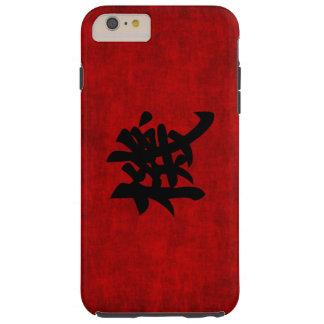 Símbolo chino de la caligrafía para la oportunidad funda para iPhone 6 plus tough