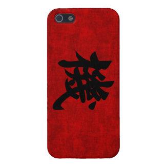 Símbolo chino de la caligrafía para la oportunidad iPhone 5 carcasas
