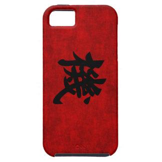 Símbolo chino de la caligrafía para la oportunidad iPhone 5 fundas