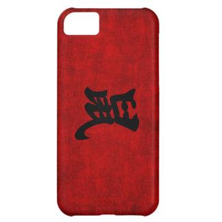Símbolo chino de la caligrafía para la rata en funda para iPhone 5C