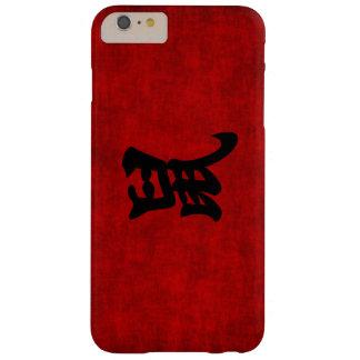 Símbolo chino de la caligrafía para la rata en funda para iPhone 6 plus barely there