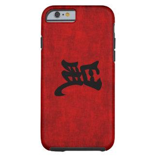 Símbolo chino de la caligrafía para la rata en funda para iPhone 6 tough