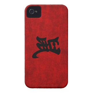 Símbolo chino de la caligrafía para la rata en iPhone 4 fundas
